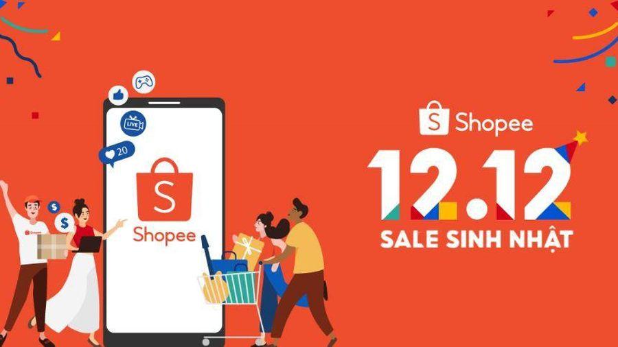 Shopee khởi động sự kiện 12-12 sale sinh Nhật