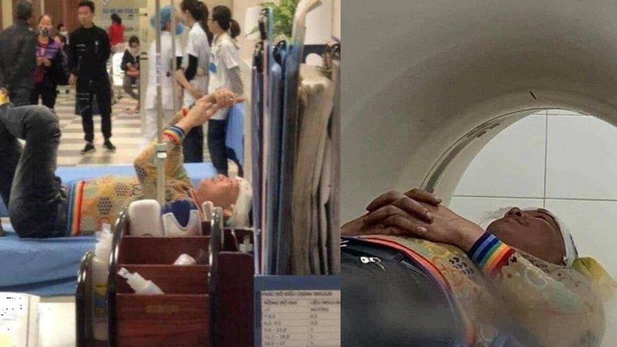 Xôn xao hình ảnh Huấn Hoa Hồng rách trán phải nằm viện, tuyên bố sớm 'đưa hung thủ ra vành móng ngựa'