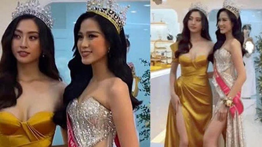 Đọ sắc bên Lương Thùy Linh, Hoa hậu Đỗ Thị Hà lộ thân hình gầy gò