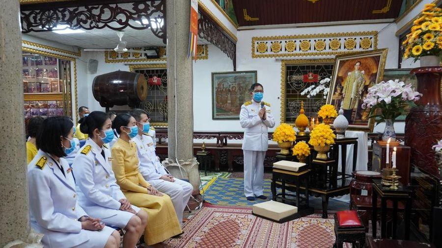 Tổng Lãnh sự quán Thái Lan cầu an tại chùa Phổ Minh