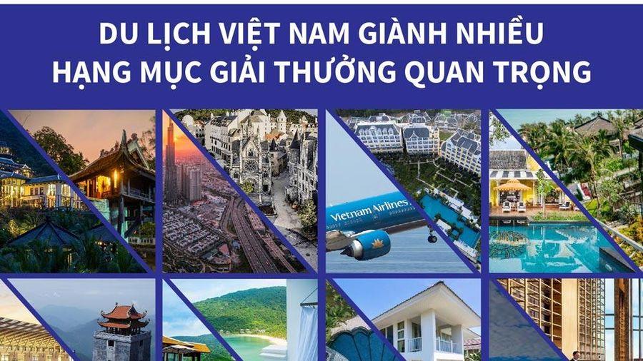 Infographics: Du lịch Việt Nam giành nhiều hạng mục giải thưởng quan trọng