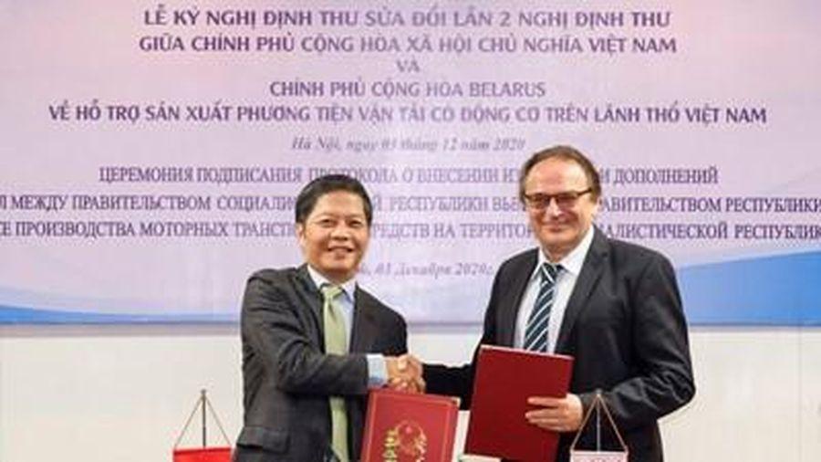 Tăng cường hợp tác Việt Nam - Belarus trong phát triển công nghiệp ô tô