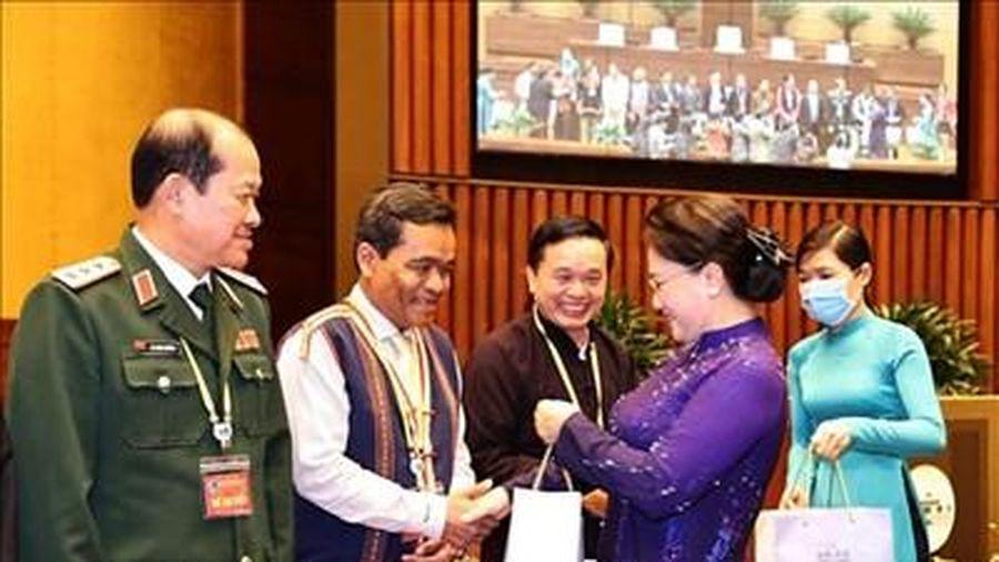 Chủ tịch Quốc hội tiếp đoàn đại biểu dự Đại hội đại biểu toàn quốc các dân tộc thiểu số