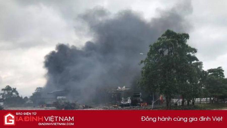 Cháy kho vật tư Hải quan Densavan – Lào, 6 người nhập viện cấp cứu
