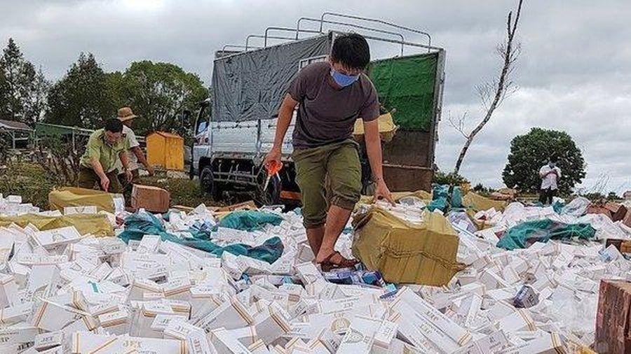 Tiêu hủy hơn 200 nghìn bao thuốc lá nhập lậu ở Gia Lai