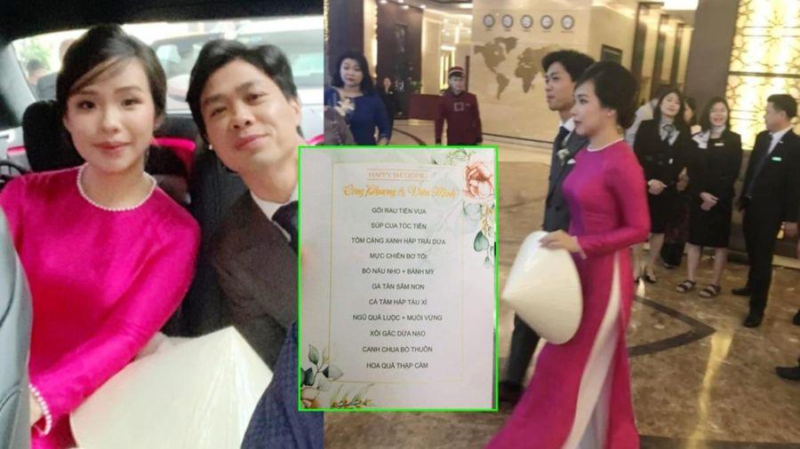 Dân tình xuýt xoa thực đơn 10 món sang chảnh, 'ăn bao no' tại đám cưới Công Phượng ở quê nhà