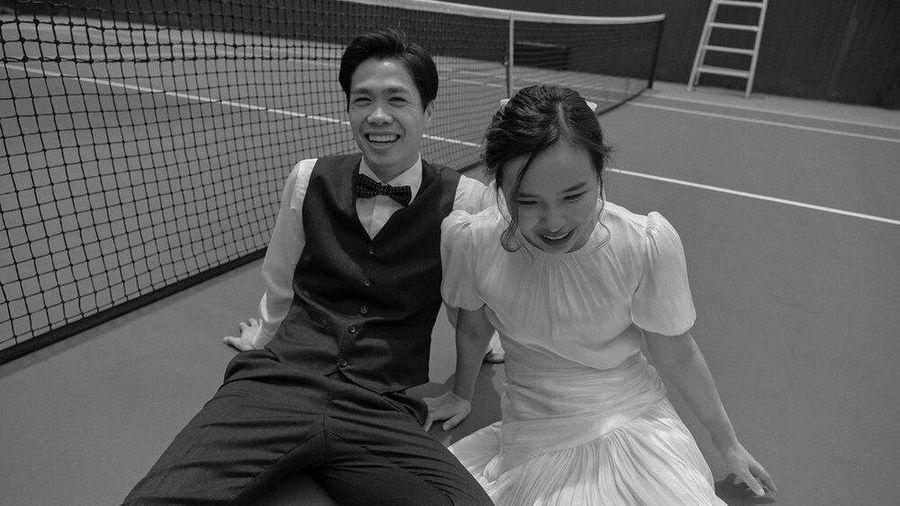 Hé lộ thêm ảnh cưới màu cực đẹp của Công Phượng và Viên Minh