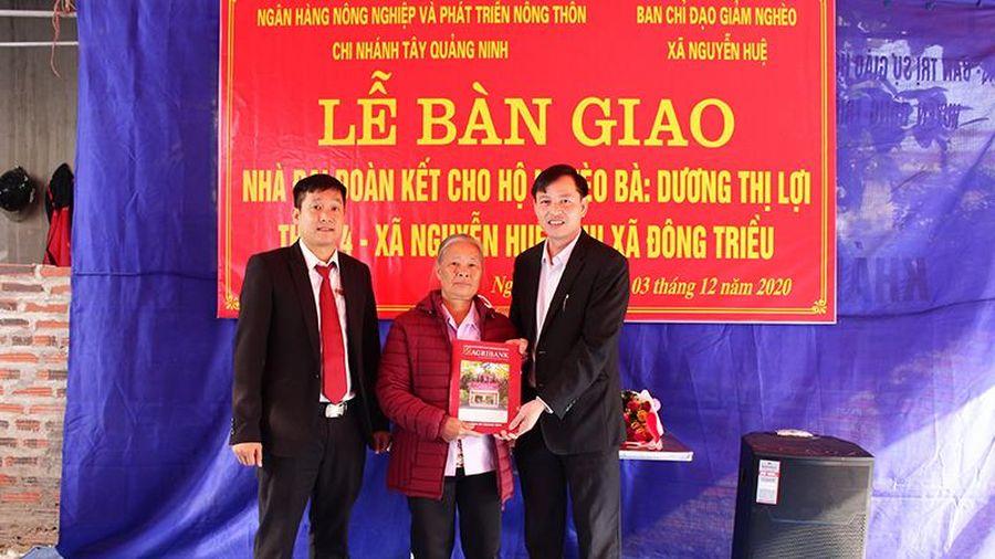 Agribank Tây Quảng Ninh hỗ trợ kinh phí xây nhà đại đoàn kết tại xã Nguyễn Huệ (TX Đông Triều)