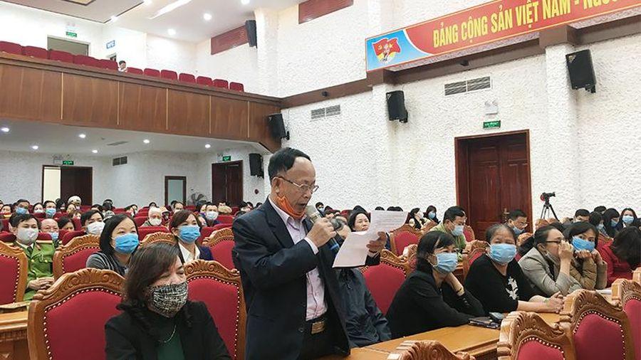 Đại biểu Quốc hội Ngô Thị Minh tiếp xúc cử tri TP Cẩm Phả