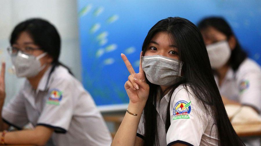 TP.HCM khuyến khích học sinh đeo khẩu trang trong lớp