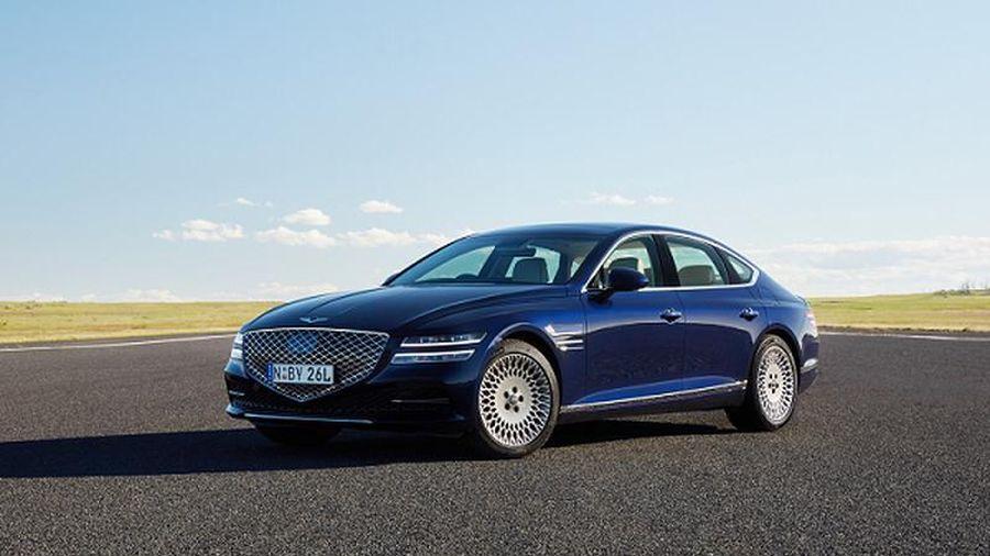 Xe sang Genesis G80 2021 có gì để 'đấu' Mercedes-Benz E-Class?