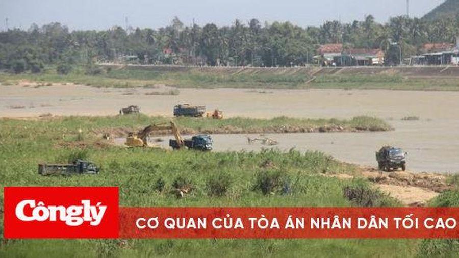 Chủ tịch tỉnh Bình Định yêu cầu dừng việc nạo vét, tận thu cát sông Lại Giang