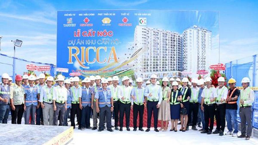 Cất nóc dự án Ricca quận 9