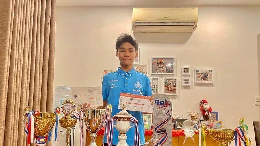 Tay đua Go-Kart trẻ tuổi nhất Việt Nam Doug Phạm nhận học bổng phổ thông Mỹ