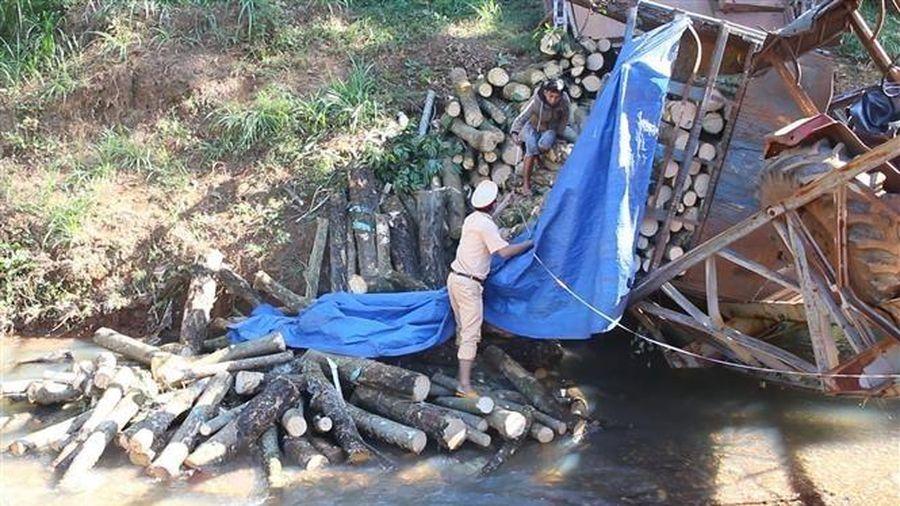 Bình Phước: Cầu dân sinh bị sập, gãy đôi do xe chở hàng quá tải trọng