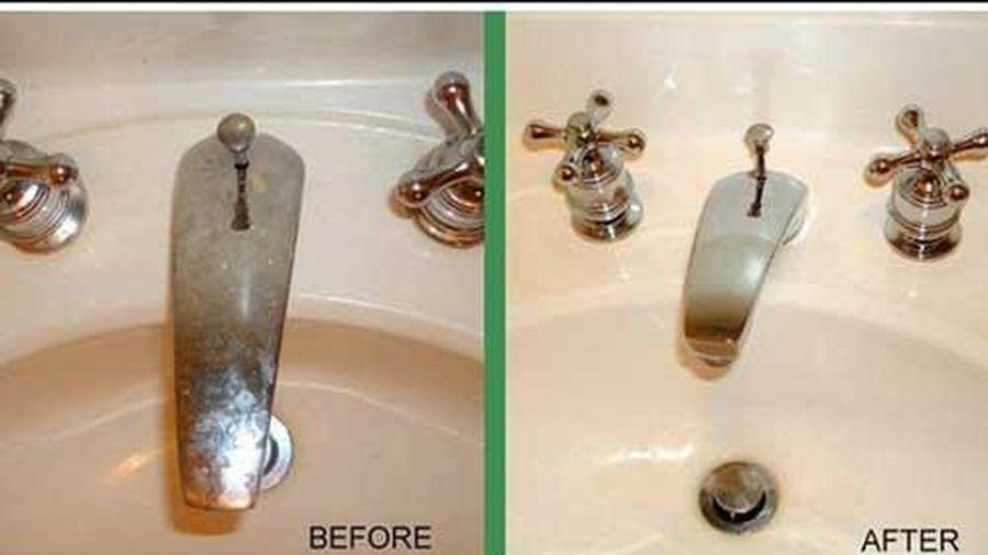 Làm sạch thiết bị nhà tắm không cần đến hóa chất độc hại