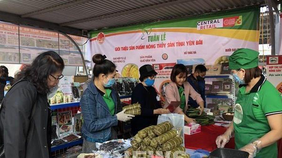Khai mạc 'Tuần lễ giới thiệu hàng nông, thủy sản tỉnh Yên Bái tại Hà Nội'