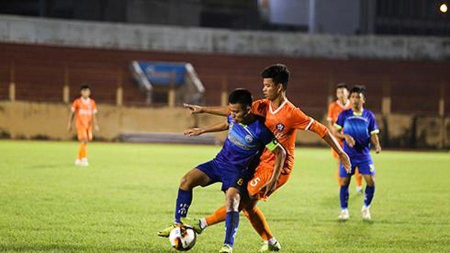 Lượt đi vòng loại Giải bóng đá U15 Cúp quốc gia: U15 Khánh Hòa đứng nhì bảng B