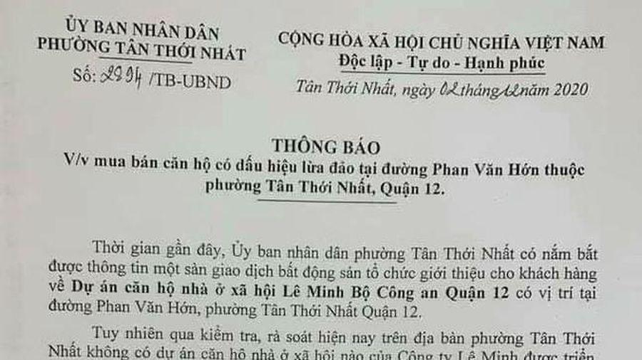 Cảnh báo về dự án 'ma' ở đường Phan Văn Hớn