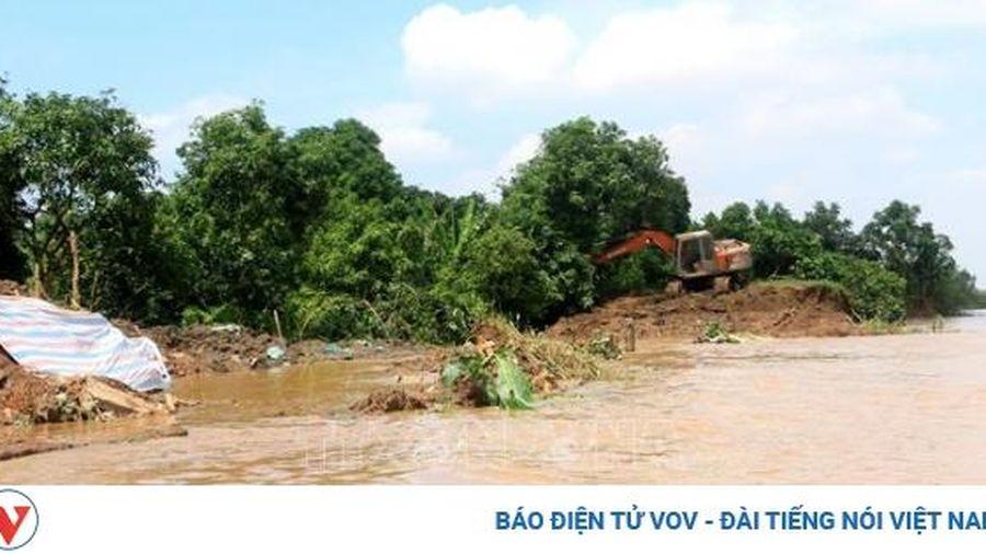Vĩnh Long công bố tình huống sạt lở nguy hiểm khẩn cấp tại cồn Thanh Long