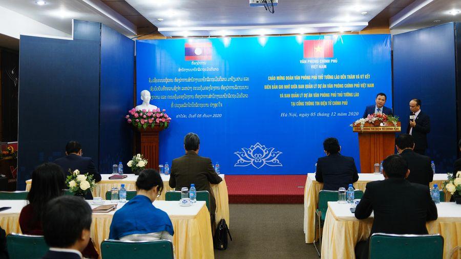 Cổng TTĐT Chính phủ triển khai dự án hợp tác với Văn phòng Phủ Thủ tướng Lào