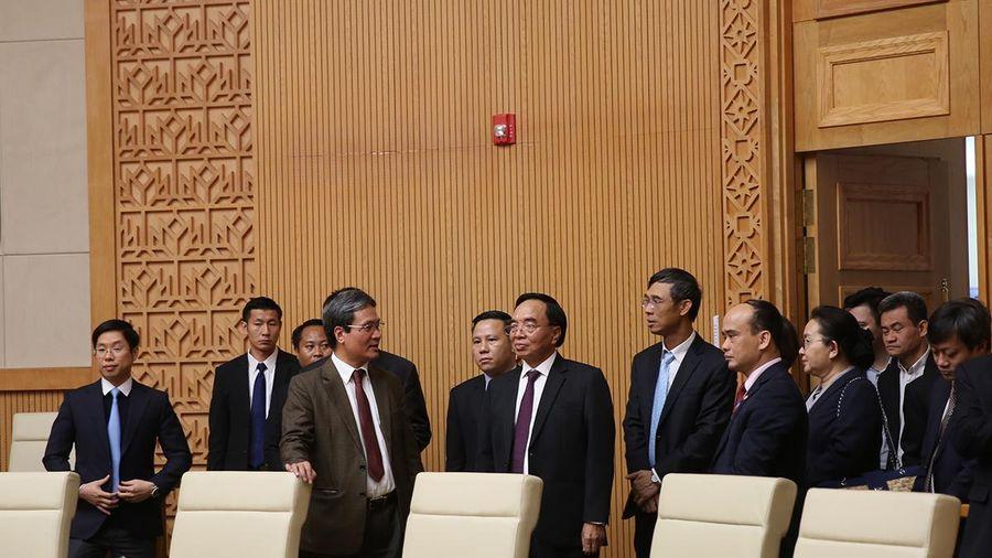 Trao đổi kinh nghiệm công tác giữa VPCP Việt Nam và Văn phòng Phủ Thủ tướng Lào