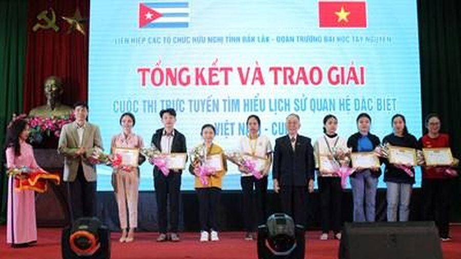 Tổng kết và trao giải Cuộc thi trực tuyến tìm hiểu lịch sử quan hệ đặc biệt Việt Nam - Cuba