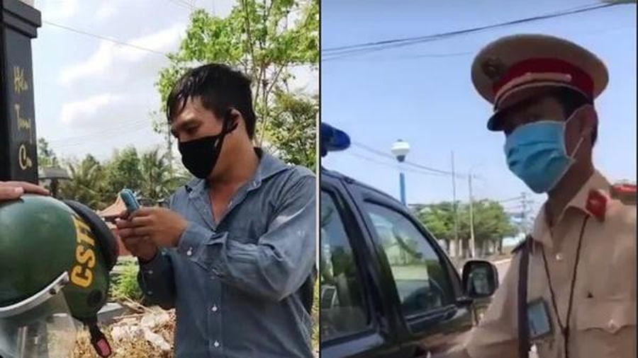 Xác minh clip 'sếp can thiệp gỡ xe vi phạm' lan truyền trên mạng xã hội