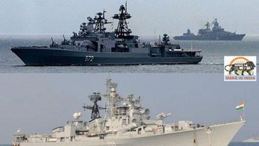 Nhân ngày Hải quân Ấn Độ, Ấn - Nga tập trận hải quân chung, tăng cường quan hệ quốc phòng