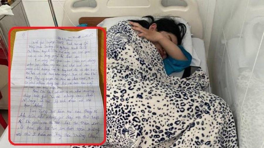 Nữ sinh lớp 10 uống thuốc tự tử, để lại thư tuyệt mệnh bày tỏ những uất ức với nhà trường