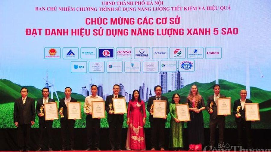 Hà Nội: Vinh danh 42 cơ sở, công trình xây dựng sử dụng năng lượng xanh năm 2020