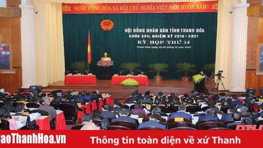 Kỳ họp thứ 14, HĐND tỉnh Thanh Hóa khóa XVII: Nghe các tờ trình và báo cáo thẩm tra