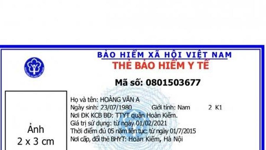 BHXH Việt Nam ban hành mẫu thẻ BHYT mới