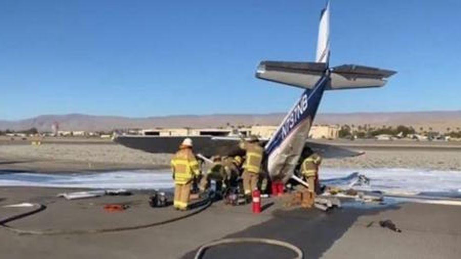 Máy bay rơi khi đang cất cánh, nữ phi công may mắn thoát chết