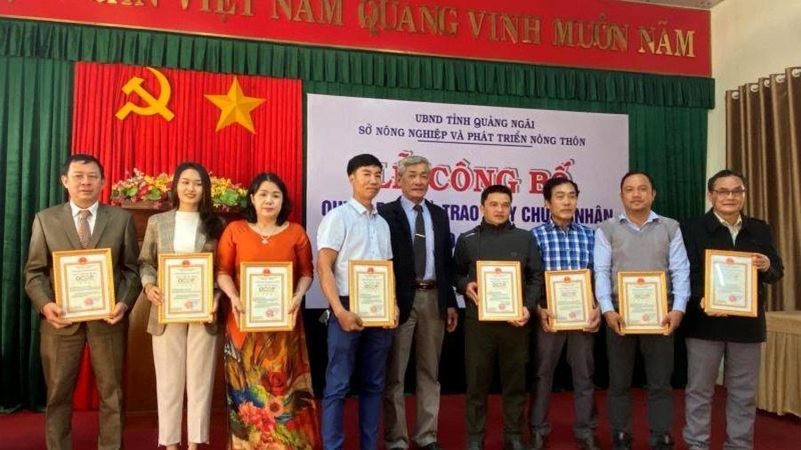 Quảng Ngãi trao chứng nhận OCOP cho 20 sản phẩm nông nghiệp