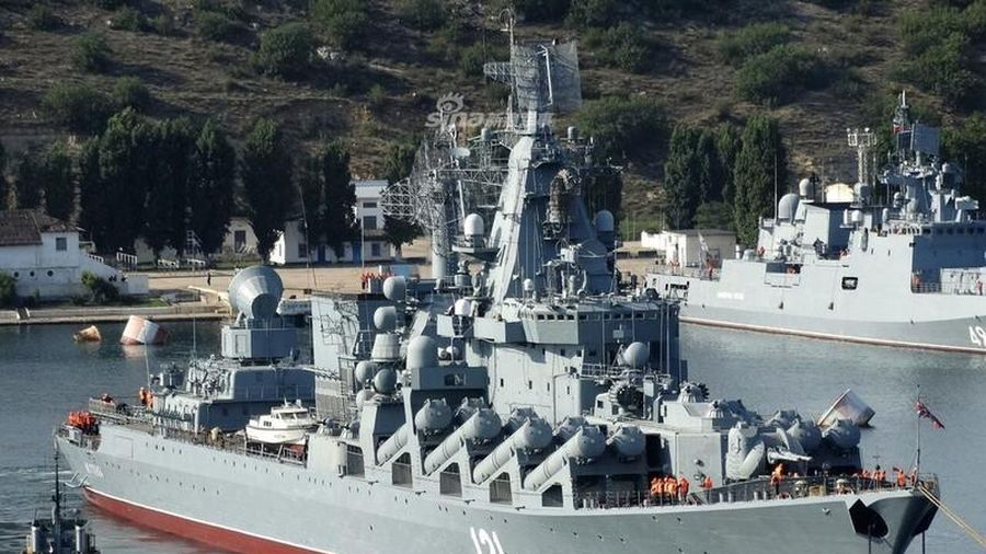 Siêu tuần dương hạm Moskva của Nga tỏa sáng sau đại tu