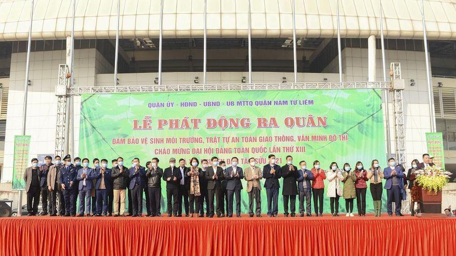 Quận Nam Từ Liêm: Phát động ra quân đảm bảo vệ sinh môi trường, trật tự an toàn giao thông, văn minh đô thị.