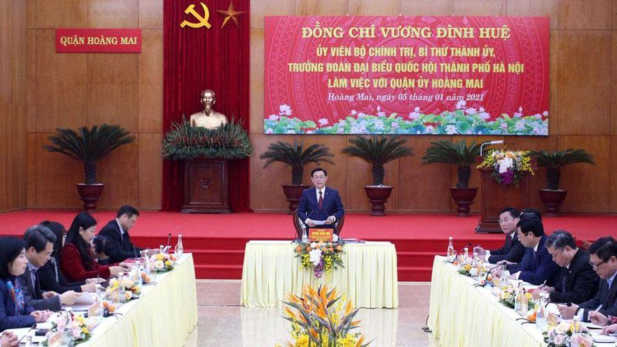 Bí thư Thành ủy Hà Nội chỉ đạo giải quyết 6 nhóm kiến nghị của quận Hoàng Mai