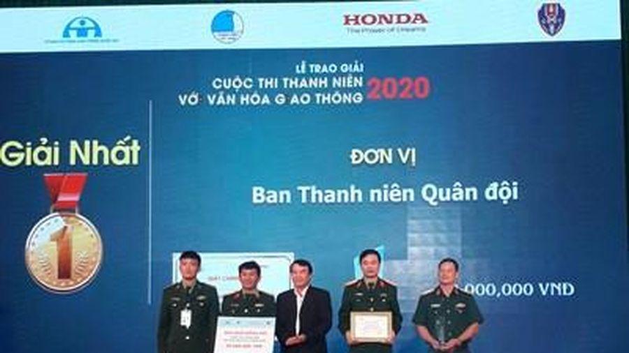 Đội Thanh niên Quân đội giành giải Nhất cuộc thi 'Thanh niên với văn hóa giao thông' năm 2020