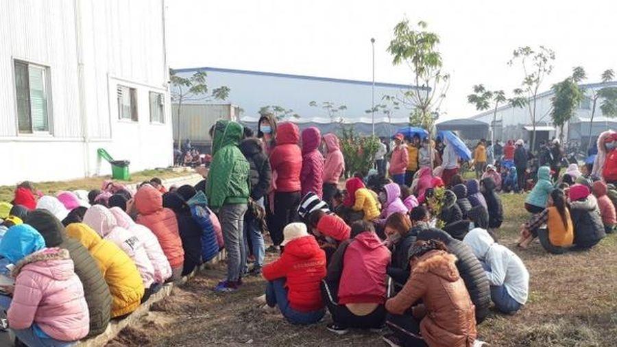 Nam Định: Hơn 4000 công nhân ngừng đình công, trở lại làm việc