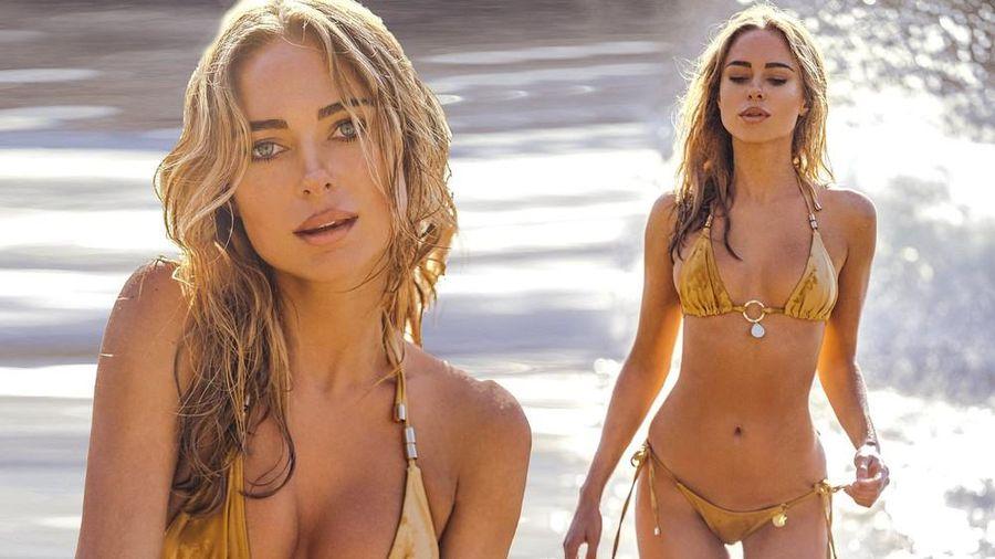 Mỹ nhân áo tắm Kimberley Garner nóng bỏng gây mê với bikini bé tí