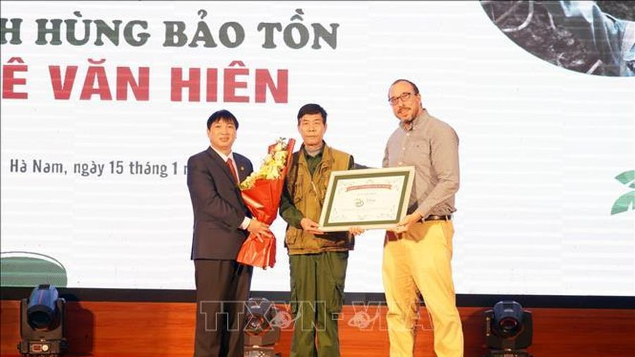 Ông Lê Văn Hiên được vinh danh Anh hùng bảo tồn
