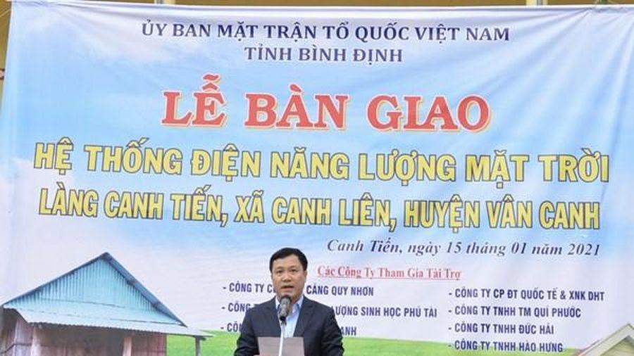 Cảng Quy Nhơn tài trợ chính công trình điện năng lượng mặt trời tại Bình Định