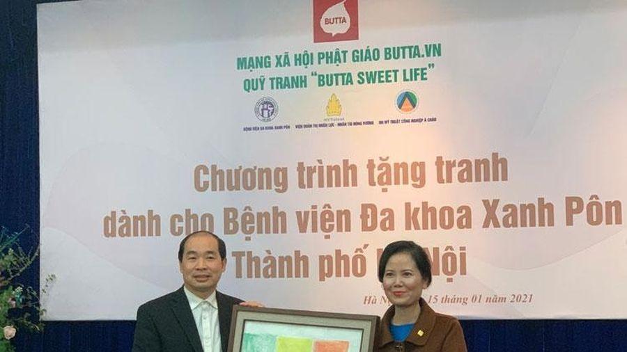 Quỹ tranh 'Butta Sweer Life' trao tặng 50 bức tranh cho Bệnh viện Đa khoa Xanh Pôn
