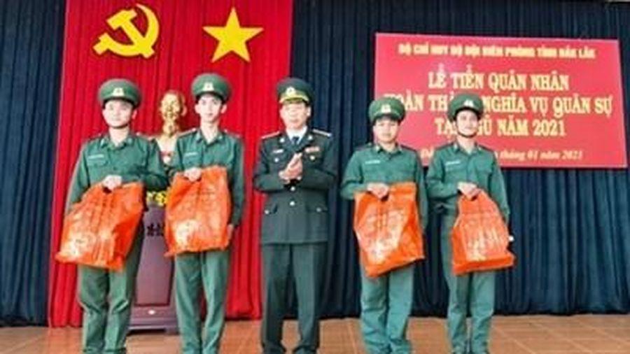 Đắk Lắk tiễn quân nhân hoàn thành nghĩa vụ trở về địa phương