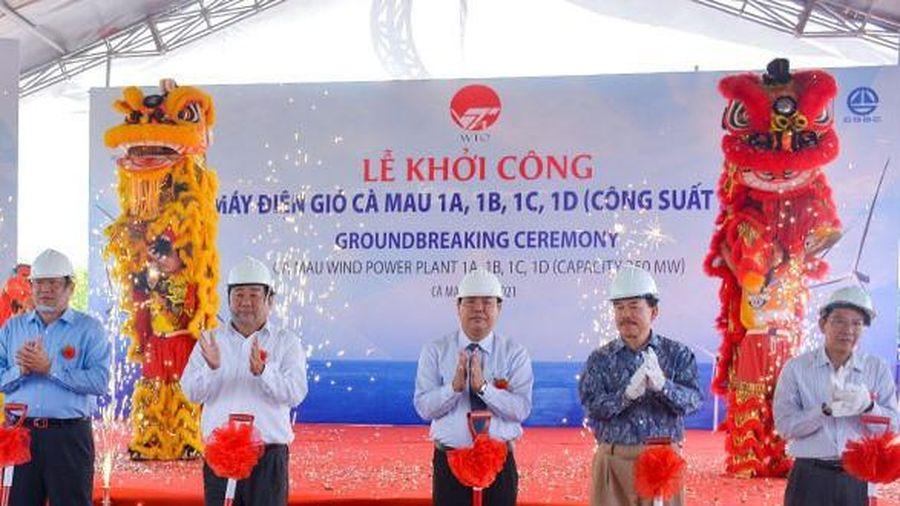 Cà Mau khởi công nhà máy điện gió 10 ngàn tỷ đồng
