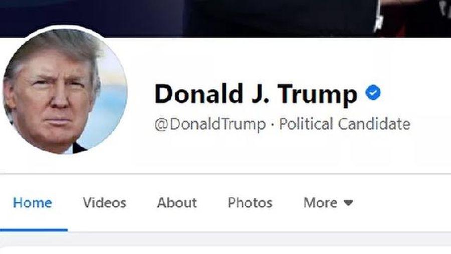 Facebook bất ngờ trả lại tài khoản cho TT Donald Trump