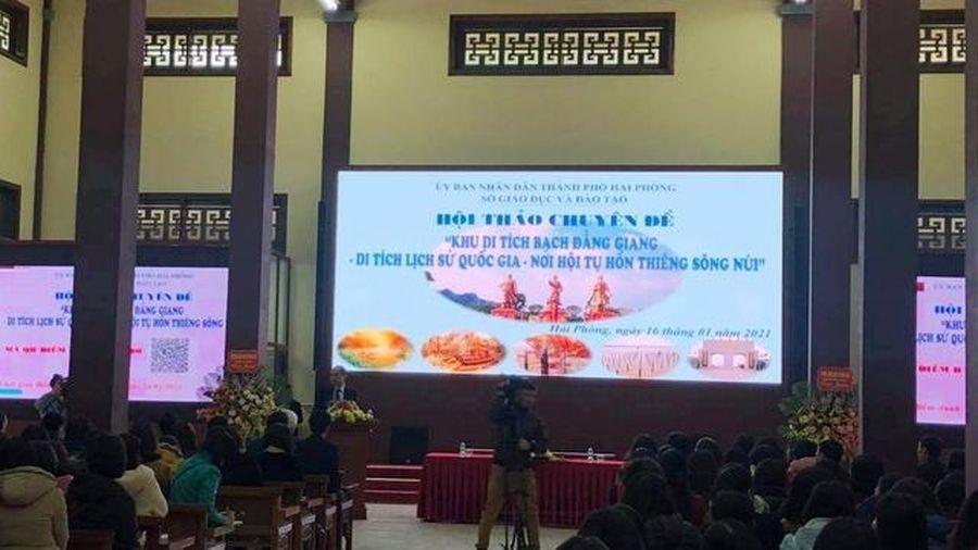 Bạch Đằng Giang - địa chỉ đỏ GD truyền thống yêu nước cho thế hệ trẻ