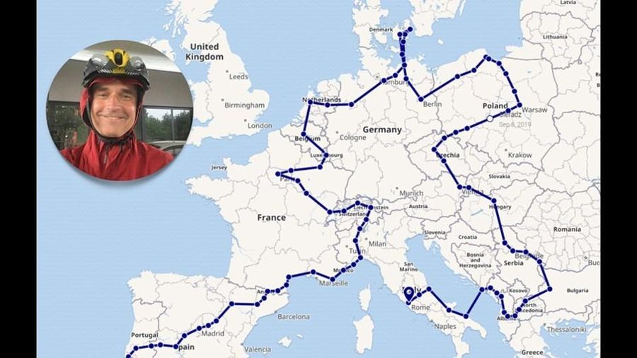 Lập kỷ lục thế giới sau khi đạp xe đạp qua 24 thủ đô châu Âu