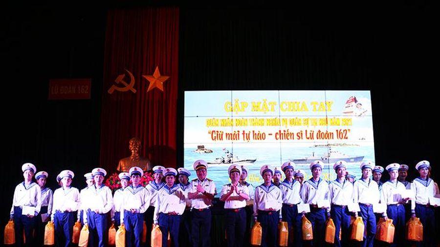 Lữ đoàn 162, Vùng 4 Hải quân: Chia tay quân nhân hoàn thành nghĩa vụ quân sự năm 2021